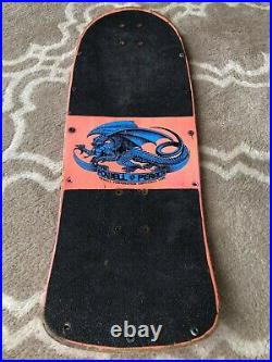 RARE Vintage Pink Tommy Guerrero Black Outlined Flamed Dagger with Wheel Wells