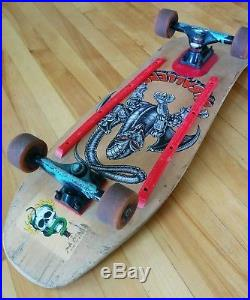 RARE Vintage Powell Peralta Steve Caballero Mechanical Dragon 7 Ply Skateboard