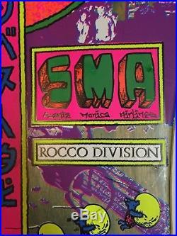 Rare 1988 SMA ROCCO DIVISION Vintage Skateboard Steve Santa Monica Airlines
