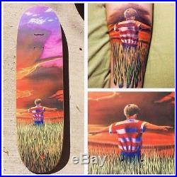 Rare NOS Real James Kelch Flyer boy In The Field Skateboard Deck 90's Slick OG