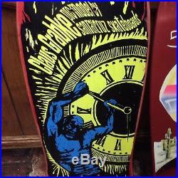Rare NOS Vintage 1988 Claus Grabke holding back time skate Deck Santa Cruz