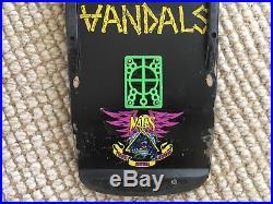 Rare OG Vandals Punk Rock Skateboard Band Deck Skull Skates Misfits Vision Alva