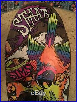 (Rare) Vintage 1980s Sims Kevin Staab Pirate Mini Skateboard Deck