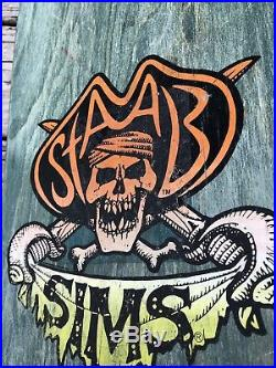 (Rare) Vintage 1980s Sims Kevin Staab Pirate Skateboard