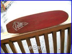 Rare Vintage OLE surfer wooden skateboard sidewalk surfboard 1960s skater surf