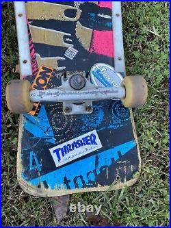 Rare Vintage Vision Mark Gonzales Skateboard, original 1980's