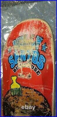 Rare Willy Santos Birdhouse used Skateboard Deck vintage