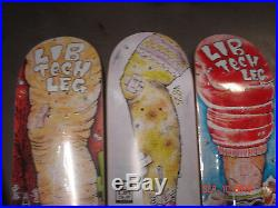 Rare lib tech skateboard deck collection 3 decks 8.25 / snowboard