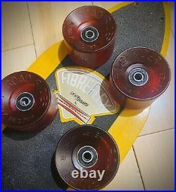 Road Rider Henry Fiberflex Hester Skateboard Wheels Vintage NOS early Set Of 4