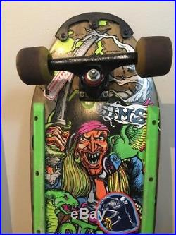 SIMS Kevin Staab -Pirate- Rare Skateboard Vintage Complete