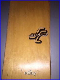 Santa Cruz NOS Vintage Team Board 1989 Street Skate RARE Skateboard Deck