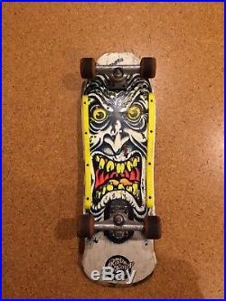 Santa Cruz Skateboard Vintage Original Roskopp Face White Rare Color