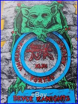 Schmitt Stix Bryce Kanights Gargoyle NOS rare vintage skateboard deck madrid