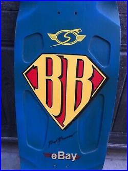 Sims Brad Bowman Superman vintage skateboard dogtown kryptonics era