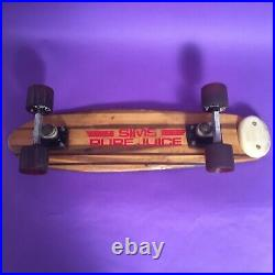Sims Pure Juice Early 1970s Vintage Skateboard