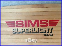 Sims Superlight vintage skateboard deck