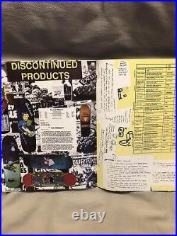 Skateboard catalog vintage 80s world industries blind plan b deck original nos