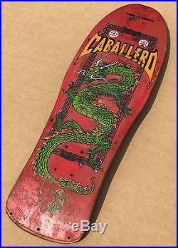 Steve Caballero Powell Peralta Skateboard Chinese Dragon 1980s Vintage Original