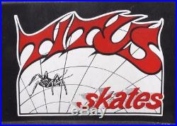 Titus Skates Vtg 1980's RARE Street Razor Wheels Cruiser Fishtail Skateboard