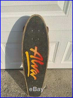 Tony Alva Skateboard With Tracker Trucks Vtg