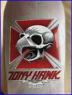 Tony Hawk Chicken Skull NOS Vintage Powell Peralta Deck Silver Dip