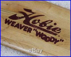 VINTAGE 1970s Hobie WEAVER WOODY Skateboard Sidewalk Surfboard ACS & POWER PAW