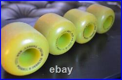 VINTAGE POWELL PERALTA BONES THREES LIME GREEN 85A Skateboard Wheels