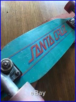 VINTAGE SKATEBOARD Santa Cruz Slalom DECK 1970s Complete