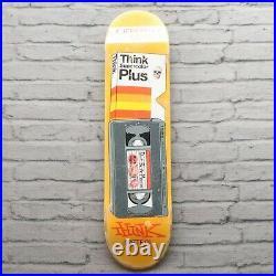 Vintage 00s Think Jeremy Reeves Skateboard Deck Skate NOS