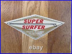 Vintage 1960's 29 Inch Super Surfer Skateboard