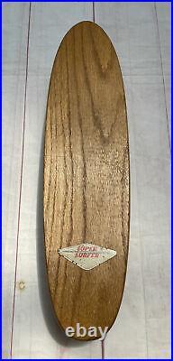 Vintage 1960's Hobie Super Surfer Skateboard Clay Wheels Trucks Oak Wooden Rare