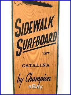 Vintage 1960s 44 SIDEWALK SURFBOARD Catalina Champion Nash Skateboard Surfer