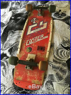 Vintage 1970's Caster Chris Strople Complete Skateboard! Cubics, Indy Stage 2's