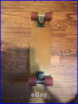 Vintage 1970s G&S Fibreflex Skateboard Bennett Trucks OJ Wheels Gordon & Smith
