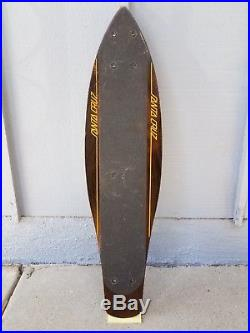 Vintage 1977 Santa Cruz Henry Hester H-Bomb Slalom Skateboard