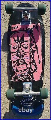 Vintage 1980's Variflex Voodoo Skateboard Witch Dr. Pink Neon Retro