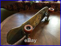 Vintage 1980's Vision Mark Gonzales Pro Model Skateboard Rare Blue Gray color