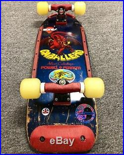 Vintage 1981 Powell Peralta Caballero Pig Skateboard Trackers + NOS Bones Threes