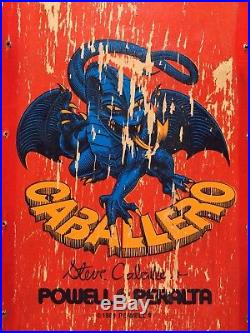 Vintage 1982 Steve Caballero Dragon Stinger Skateboard Powell Peralta Pig Rare