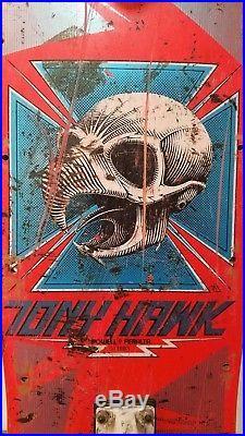 Vintage 1983 Original Tony Hawk Powell Peralta Skateboard Chicken Hawk Skull