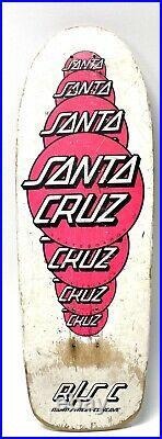 Vintage 1985 Santa Cruz Mulit DOT Rare Skateboard Deck White Pink