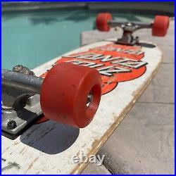 Vintage 1985 Santa Cruz Mulit DOT Rare Skateboard Deck White Pink FULL SET UP