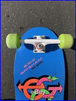 Vintage 1985 Sure Grip Eric Grisham Rare Skateboard Variflex