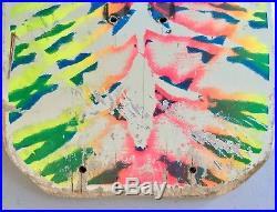 Vintage 1986 Sims Jeff Phillips Tie Dye Skateboard Deck White Dip Used RARE