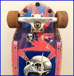 Vintage 1987 Powell Peralta Tony Hawk Skull Pink 7-Ply w Trackers & Cruz Bullets