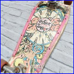 Vintage 1987 Santa Cruz Claus Grabke Exploding Clock Skateboard Skate Complete