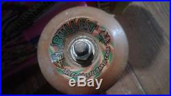 Vintage 1987 Santa Cruz Claus Grabke complete skateboard with Trackers & Bullets