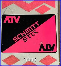Vintage 1987 Schmitt Stix ATV 2 Skateboard Team Deck Silver Sword Never Used GVC
