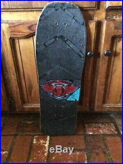 Vintage 1988 Powell Peralta Mike Vallely skateboard deck Original & signed