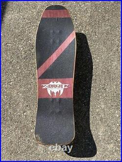Vintage 1988 ZORLAC METALLICA SPIDER/SKULL BONES WHEELS SKATEBOARD